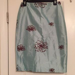 Ann mashburn skirt blue new without tags